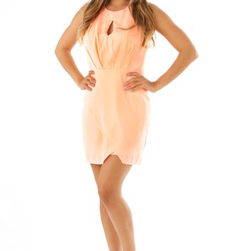 Near Wild Heaven Dress: Peach