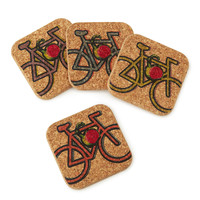 Bike Cork Coasters