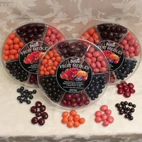 Dilettante® Chocolate Covered Fruit Medley Wheel Three 36 Oz. (2.25 Lbs) Wheels Mother's Day gift.