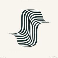 Untitled [Winged Curve] by Bridget Riley at Karsten Schubert - Printed Editions | Printed Editions
