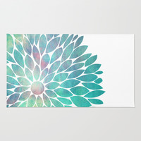 Watercolor Flower Area & Throw Rug by Digi Treats 2