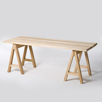 Saw Horse table Made by Douglas and Bec