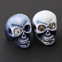 skull ring with crystal eyes by bythecoco on Zibbet