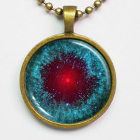 Astronomy Necklace - Helix Nebula NGC 7293 - Cosmic by FantasticDIY