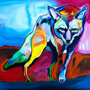 Hunger Walks on Silken Paws Print