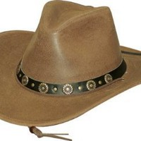 All Leather Western Cowboy Hat Distinguished Yet Styleish with a Low Crown