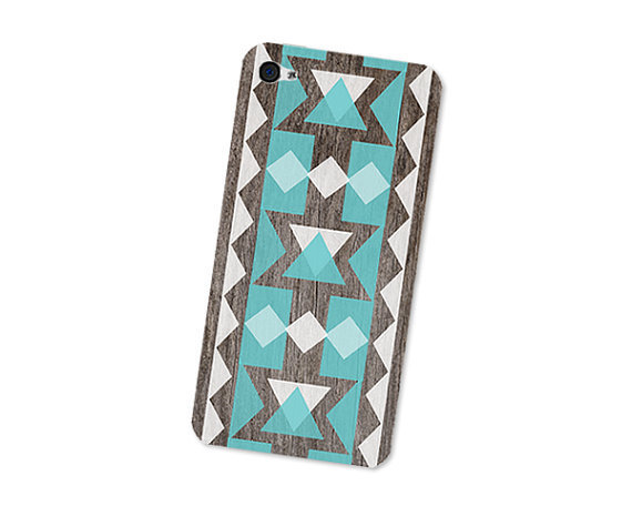 Geometric Wood Iphone Skin 4S Gadget Sticker Cover by fieldtrip