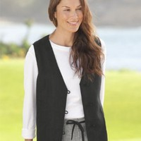 Knot-button Shoreline Linen Vest