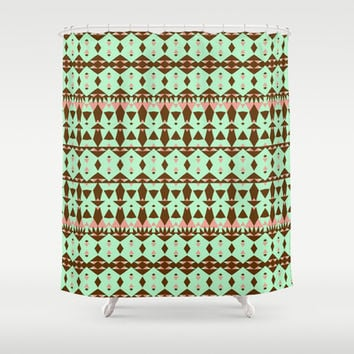 Oasis #4 Shower Curtain by Ornaart