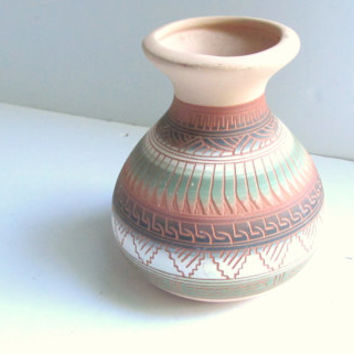 authentic Native American Navajo terra cotta vase