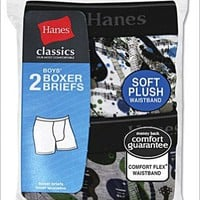 Classics Boys Exposed ComfortFlex Waistband Printed Boxer Brief (2-Pack)