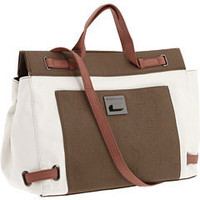BCBGeneration Leslie Color Block Satchel White Combo - 6pm.com