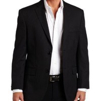 Haggar Mens Multi Bead Stripe 2 Button Center Vent Suit Coat