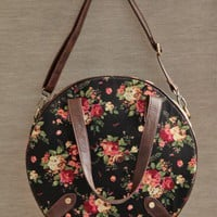 Floral Travels Round Bag | Modern Vintage Purses