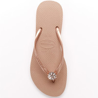 Havaianas Slim Crystal Poem Flip Flops Shoes 4127406 at BareNecessities.com