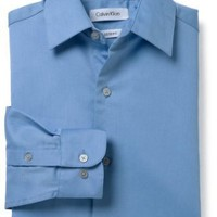 Calvin Klein Boys 2-7 Sateen Hanging Dress Shirt