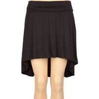 FULL TILT Solid Hi Low Skirt