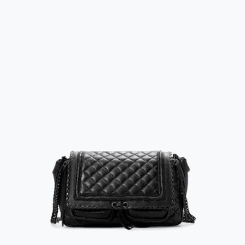 Quilted leather city bag