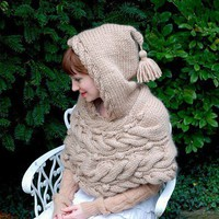 woodland hoodlet KNITTING PATTERN by TinyOwlsMagicAttic on Etsy