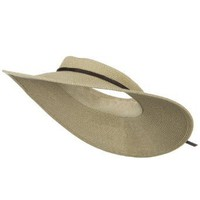 UPF50+ Crownless 4 Inch Wide Brim Visor - White Tweed W39S49A