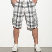 G by GUESS Delgado Plaid Cargo Short