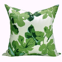 Peter Dunham Fig Leaf pillow cover in Faded on Hemp