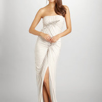 ideeli | MIGNON Strapless High Slit Gown