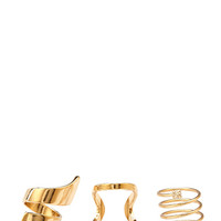 Architectural Statement Ring Set