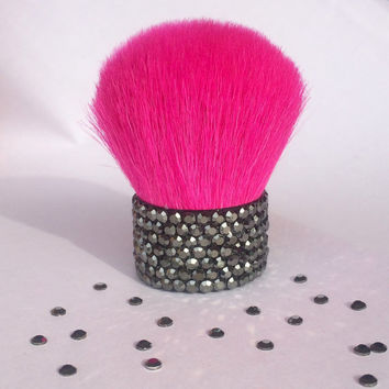 Pink Rock Bling Kabuki Brush