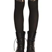 Cat Face Tights | Wet Seal