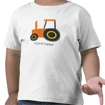 Orange Tractor Just Add Name