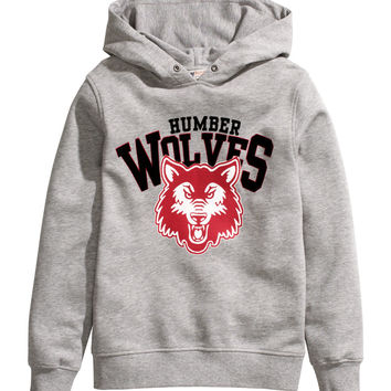 H&M - Hooded Top with Printed Design