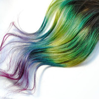 Peacock  Human Hair Extensions  Dip Dyed Tips / by MissVioletLace