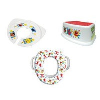 Sesame Street Soft Potty, Travel and Step Stool Combo Set