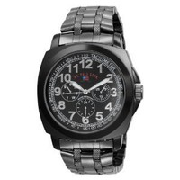 U.S. Polo Assn. Men`s US8455EXL Black Dial Extra Long Gun Metal Bracelet Watch