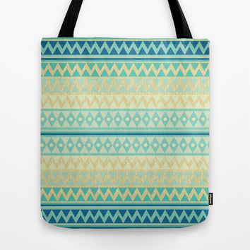 Glitter Chevron Tote Bag by Nika