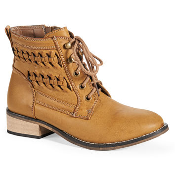 Aeropostale Womens Braided Booties - Beige,