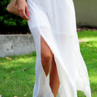 All I Ever Wanted Maxi Skirt: Ivory