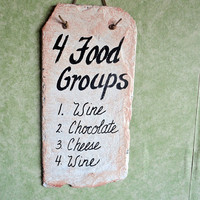 Food Groups for wine chocolate and cheese by kpdreams on Etsy