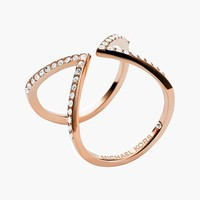 Michael Kors Pave Open Ring