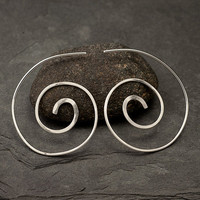 Sterling Silver Spiral Earrings Spiral Earrings by Artulia on Etsy
