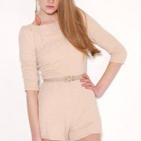 3/4 Sleeve Belted Romper by AKIRA | Sexy One Piece | shopAKIRA.com