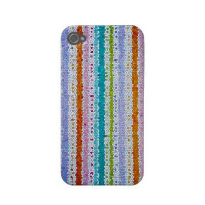 iphone4-4s case multi colored stripes from Zazzle.com