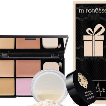 *SP Studio Magic Custom Blendable Contour / Concealer Pallet + BB Pore Powder - Mirenesse