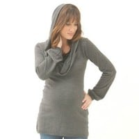 The Cowl Neck Hoodie Tunic Sweater