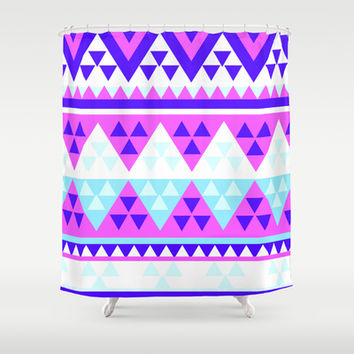 Tribal  Shower Curtain by Ashley Hillman