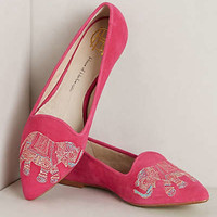 Embroidered Elephant Loafers