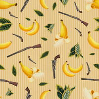 "Removable Wallpaper - Wild West Gone Bananas - 20"" x"