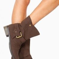 Bamboo Brown Slouch Front Boot @ Cicihot Boots Catalog:women's winter boots,leather thigh high boots,black platform knee high boots,over the knee boots,Go Go boots,cowgirl boots,gladiator boots,womens dress boots,skirt boots.