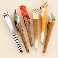 Forest Animals Pens, Set of 6 | Home Office Accessories| Accessories | World Market